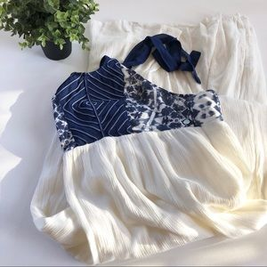 [Rip Curl] White & Blue Maxi Dress